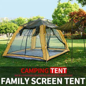 3-4 Kişi Rüzgar kesici Kamp Çadırı Çift Katmanlı Su geçirmez Anti UV Turist Çadırlar Yürüyüş Plaj Seyahat 4 Sezon Tent 2020 Balıkçılık için