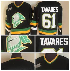 Fashion Retro Vegas Golden Knights Jerseys 61 Tavares Jeseys Black Green Mens Stitched Throwback Hockey Jerseys