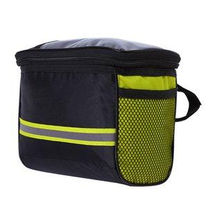 Bike Handlebar Bag Waterproof Bike Basket Bicycle Front Storage Bag with Reflective Strip