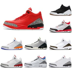 2019 Air Jordon Retro Series 3 3s Iii 3 мужская баскетбольная обувь Chlorophyll Varsity Red Tinker White Cement Katrina спортивные кроссовки 8-13