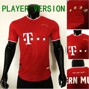 20 21 Oyuncu Sürümü See Lewandowski Coman Gnabry Alaba Davies Muller Futbol Forması 2020 2021 Futbol Gömlek Erkekler Çocuklar Üniforma Setleri