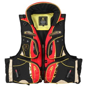 Pesca revestimento de vida com vários bolsos Floatation Vest Adultos vida flutuabilidade Colete jaquetas de Natação Surf Vest