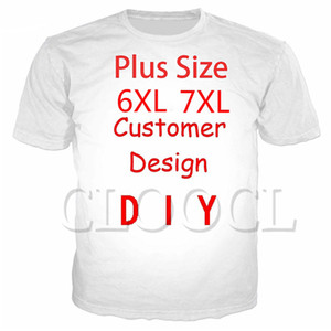 CLOOCL fai da te Personalizza personalità Design T-shirt 3D Print propria immagine Photo Star Anime casual Plus Size T-shirt