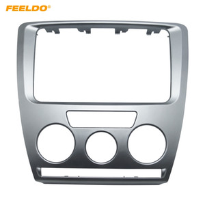 FEELDO Car DVD / CD Radio Stereo 2DIN Fascia Panel Repetiting Frame Facia Trim Install Mount Kit for Skoda Octavia (2007 ~ 2009) 매뉴얼 A / C # 3468