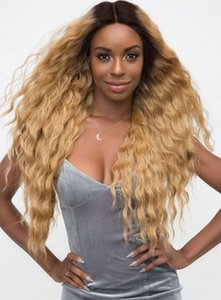 Human Hair Lace Front Wigs 1B Tone 27 Color Loose Curly 20 Inch Indian Remy Haman Hair With Preplucked Hairline Babyhair
