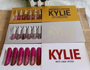 MARCA 6PCS / SET Kylie Jenner CUMPLEAÑOS Edition y edición de vacaciones de LIPGLOSS SET y Valentine EDICIÓN DE LIPGLOSS