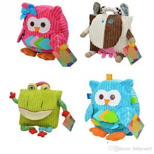 Nuevos lindos de la historieta Soft mono búho Animales Mochila juguete para las bolsas de cerrojo bebé niños de la felpa mochila libere la nave