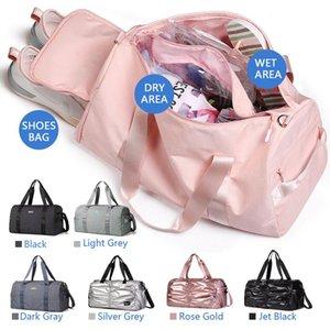 KMV водонепроницаемый вещевой мешок для сухого и влажного разделения сумка для йоги с отсеком для обуви, спортивная сумка и спорт для девочек и мужчин