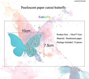 Butterfly For 3d 12pcs Wall Sticker Half Hollow Wedding Home Decoration Butterflies On The Wall Rooms Decor Multicolor Stickers