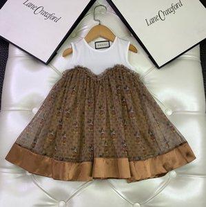 Tatlı Taze Çocuk Tide Versiyon Moda Kız Yaz kaliteli kolsuz elbise 031.408