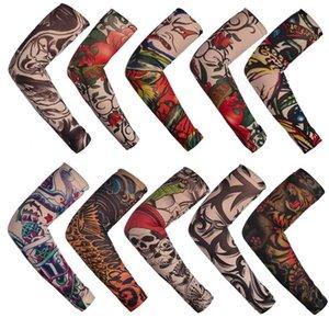 Dövme Kollu Erkekler ve Kadınlar Geçici Tatto Kol Çoraplar Oversleeves Sahte Dövme Kollu