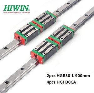 2 adet Orijinal Yeni HIWIN HGR30-900mm doğrusal kılavuz / ray + 4 adet HGH30CA lineer dar blokları için cnc router parçaları