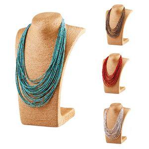 Nouvelle arrivée Bohême luxe Multilayer Rocailles Collier Femmes Filles Rose Noir perles en vrac Bijoux Fashion