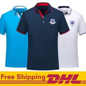 Gratuit DHL Expédition Drogheda United Soccer Polo hommes manches courtes T football entraînent Polos-shirt Jersey peut être mélangé lot Hommes Polos