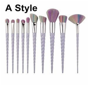 Hot 10 PCS Makeup Brushes The fan brush Makeup Tools free shipping