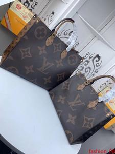 # 465 5A L Marque V OnTheGo Sacs fourre-tout sac à main femme mode classique d'embrayage poignée sur le dessus Sacs en cuir véritable grande capacité Sac M44576