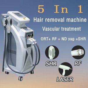 OPT SHR + RF + Nd Yag Máquina de belleza con láser Eliminación de manchas en tatuajes / piel OPT SHR Eliminación de vello EKIGHT Eliminación de venas Equipo de RF Ipl