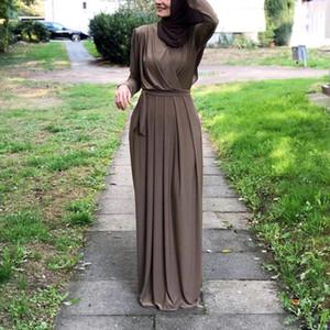 2019 Женщины Мусульманский Абая Турция Ближний Восток Мусульманин платье Музыкальный Robe Рамазан Абая Patchwotk Элегантный клуб Party Исламская одежда