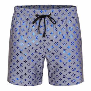 2020 New Pants plage pour hommes Silver Blue Couleur lumineuse marque bien connue taille élastique séchage rapide étanche Simwear Surf Natation Shorts De