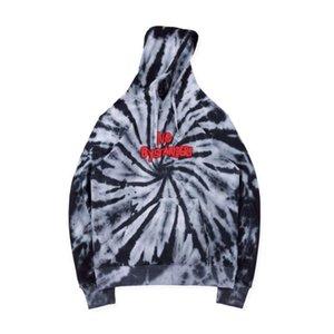 Mens Designer Hoodies Travis Scott Astroworld Black Hole Vortex Tie-dye High Street Fashion Brand Hoodie Loose Sweatshirt S-XL