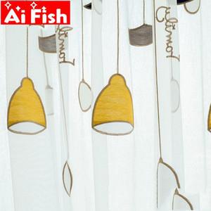 High Grade Towel Yellow Chandelier Curtain Tulle Living Korean Simple Sheer Curtains Children Bedroom MY124-5 Y200421