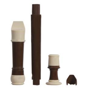 Baroque Soprano Recorder 8 Holes with Storage Bag Cleaning Rod Cloth, Coffee Color