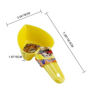 Feeding Pet Accessories Love Heart-shaped Dog Food Scoop Plastic Shovel, Cat Food spoon Tableware Dog Supplies Pet Products