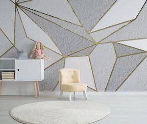 Papier peint photo personnalisé Papel de paréde 3D abstrait géométrique mural pour salon chambre télévision arrière-plan mural papiers maison décor à la maison