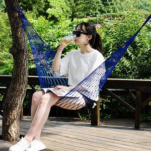 Hamaca For Outdoor Travel Hamac Garden Hamak Camping Hammock Nylon Hammock Sleeping Bed Hanging Chair Mesh Net Hammock