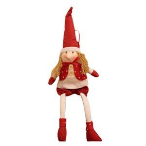 Noel Elf heykelcik Noel Doll Noel Baba Elf Erkek Ve Kadın Doll Noel Dekorasyon Doll