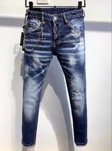 Été 2020 en gros hommes de jeans, européenne denim production de bonne qualité hommes de porter bienvenue à la Mode Hommes de crayon pantalon # bleu
