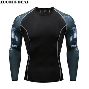Eye MMA T-shirts Keep Fit Fitness Manches Longues Skin MMA Tight Weight Tee Soulever Élastique Compression Homme T-shirt ZOOTOP BEAR
