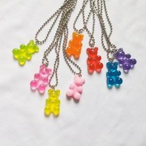 2020 New 7 Farbe Mode Violent Bär Mini-Anhänger Halskette Kindergeburtstag-Geschenk-Halskette Schmuck Bär Geschenk