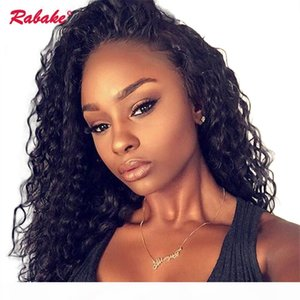 Curly 360 Full Lace Human Hair Wigs Rabake Brazilian Glueless 360 Lace Front Wig Cap Afro Kinky Curly Frontal Wigs for Black Women