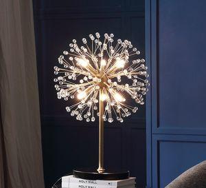 Firefly Кристалл Настольная лампа для спальни Starfish торшер Marble основание пола огни для гостиной Современные светодиодные настольные зажигает LLFA