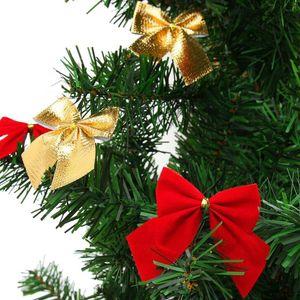 12Pcs Christmas Tree Ornaments Xmas Bowknot Tree Hanging Decoration GOLD BLUE for choice