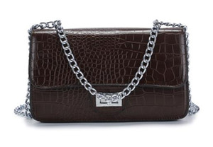 free shipping Cheap Wholesale Fashion cross body bag for women Crocodile pattern PU leather Leisure chain shoulder bag