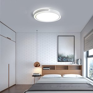 Simple modern bedroom lamp round led ceiling lamp home dining room study aisle balcony children's room lights RW213