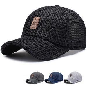 New Arrival Adult Unisex Mesh Baseball Caps Adjustable Cotton Breathable Comfortable Sunshade Sun Hat Snapback Caps Gorras