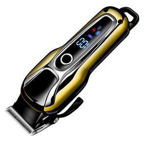 Kemei KM-1990 rechargeable Tondeuse professionnelle cheveux Tondeuse à raser coupe Barbe Tondeuse électrique