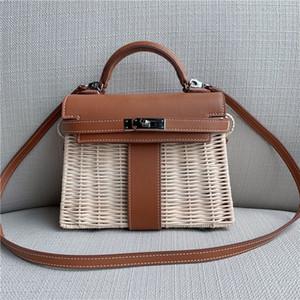 Elegant2019 Rattan Manuelle Artikel Handtasche Frau Kylie Slanting Straw Geflochtene Artikel Paket Will Capacity Weave Bag Summer