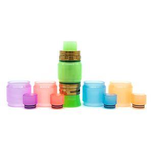Date coloré époxy résine tube lumineux Caps Caps Drip Tip Set haute capacité conception innovante pour TFV8 TFV12 Big Baby Prince réservoir atomiseur