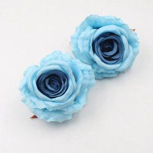 10pcs 10cm cabeza artificial de Rose de flores para la decoración DIY de Scrapbooking arte hecho a mano Accesorios falso Flores