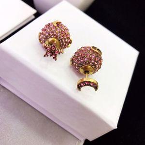 d home Dijia High version Moon Star diamond earrings female bronze plated gold earrings
