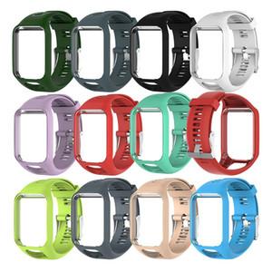 Cinturino di spedizione gratuita per Tom Tom 2 3 Series Cinturino per orologio cinturino di ricambio in silicone per orologio TomTom Runner 2 3 GPS