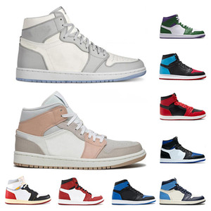 Nike Air Jordan scarpe MID Milano Alta OG WMNS Tie-Dye Uomini Baksetball 1s Qualità Gioco caldo Sport fedeli mens incredibile Hulk alta Bloodline Sneakers formatori