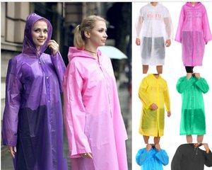 Мода EVA дождевик Женщины Мужчины Утолщение водонепроницаемый дождевик прозрачный Кемпинги дождь Износ Костюм