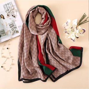 Inverno marca Lenço de seda de alta qualidade Foulard Bandana longo lrage Xailes Wrpas écharpe Lady Hijab 2020 Novo