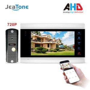 جديد 7 بوصة Wifi الذكية الباب شبكة الهاتف الداخلي مع 720P AHD مزود بكاميرا جرس المنزل سجل الأمن Wifi الباب البعيد