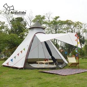 Nuovo arrivo 3-4 persona Usa Ulterlarge ultraleggero in alluminio polacchi impermeabile Teepee Tenda Grande Shelter Gazebo Sun